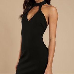 Worn Once! TOBI Black Choker Body Con Dress XS